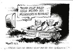 """OÖN-Karikatur vom 14. Jänner 2017: """"Warum sind wir damals nicht auf die Idee gekommen?"""" Mehr Karikaturen auf: http://www.nachrichten.at/nachrichten/karikatur/ (Bild: Haitzinger)"""