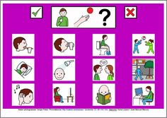 MATERIALES - Tablero de comunicación de 12 casillas: Necesidades básicas (género masculino).   http://arasaac.org/materiales.php?id_material=224