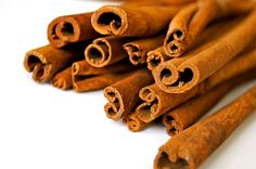 Cinnamon Cinnamon helps blood cells use sugar, meaning it doesn't end up stored as fat. Try this recipe for cinnamon pull-aparts.