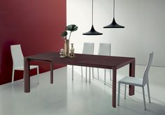 COOK. Natural wood intensifies the design of this table. It is a high quality table, with the extensions in the same finishes as the top.  Extending dining table with alu telescopic mechanism, wooden structure and top. http://www.easy-line.it