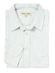 Blue & White Pin Striped Linen Shirt  For Dean - beautiful, fair trade business shirts from Arthur & Henry