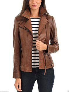 ab41bdda1fe1 Lamb Leather Solid Motorcycle Coats   Jackets for Women