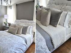 Ballard Designs bedding in gray