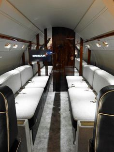 1997 Gulfstream V S/N: 525 For Sale  #avrojet Gulfstream V, Private Jet Interior, Private Flights, Contemporary Cabin, Football Is Life, Private Jets, First Class, Rich Girl, Flight Attendant