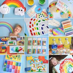 I keep thinking about doing a rainbow birthday party (but really, it's probably going to be Dinosaur Train)