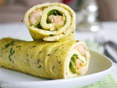Omelette wraps - pesto, turkey, provolone