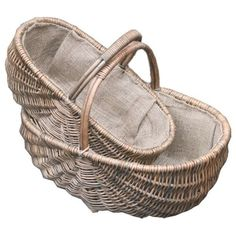 Brambly Cottage Made in full buff mellowed willow with hessian lining. Measurements can vary slightly due to the product being made from natural materials. Rattan Basket, Wicker, Baskets, Garden Basket, Hessian, Hamper, Uk Shop, Natural Materials, Basket Weaving