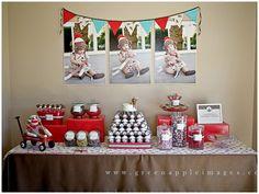Sock monkey birthday/baby shower ideas @Heather Silva-Cardone