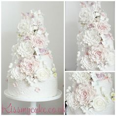 Summer Floral wedding cake Kissmycake.co.uk