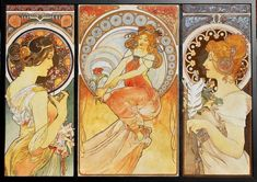 alphinse mucha paintins | alfons mucha tribute by natalia virlan traditional art paintings ...
