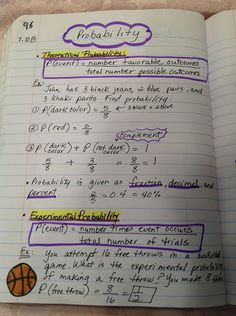 Here's a sample notebook page on probability.