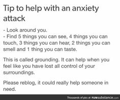 How to deal with an anxiety attack