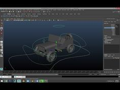 Maya tutorial : How to rig a vehicle - YouTube