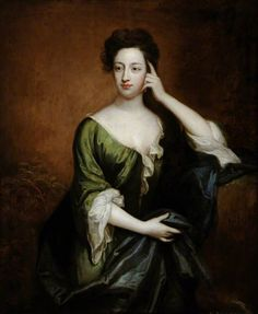 Lady Elizabeth Montagu (b.1668/1669)  by Godfrey Kneller---She is known as the Queen of the Bluestockings.  None other than Dr Johnson said she was among the most interesting conversationalists he ever met-man or woman. That's good enough for me.