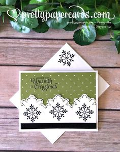Stampin' Up! Snowflake Sentiments Christmas Card - Peggy Noe - stampinup, snowflakes, stampin up