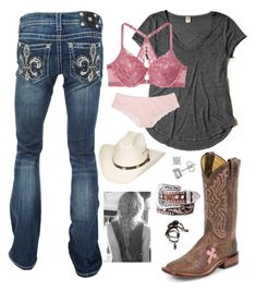 A fashion look from February 2018 featuring t shirts, boot cut jeans and victoria secret bras. Browse and shop related looks. Cute Summer Outfits, Outfits For Teens, Stylish Outfits, Fall Outfits, Cute Outfits, Fashion Outfits, Fashion Clothes, Cowgirl Outfits, Western Outfits