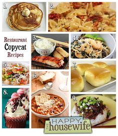 restaurant copycat recipes