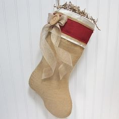 Hey, I found this really awesome Etsy listing at http://www.etsy.com/listing/107124355/burlap-christmas-stocking