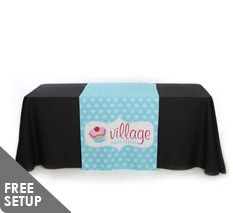 30 inch x 60 inch Full Color Table Runner