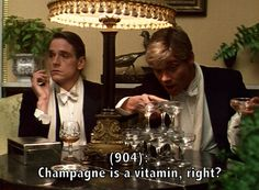 Charles and Sebastian. And actually, Champagne contains minerals that are good for us, like potassium and stuff.