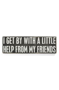 PRIMITIVES BY KATHY 'With A Little Help' Box Sign available at #Nordstrom