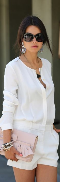 All White Outfit Ideas For Ladies Picture all white outfit ideas day night summer style must have All White Outfit Ideas For Ladies. Here is All White Outfit Ideas For Ladies Picture for you. All White Outfit Ideas For Ladies stylish chic all white. Fashion Mode, Look Fashion, Womens Fashion, Street Fashion, Fashion 2015, Fashion Design, Skirt Fashion, Fashion News, Luxury Fashion