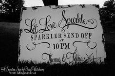 SPARKLER SEND OFF Sign, 34 x 24, Vintage Wedding Sign, Shabby Chic Wedding Decor