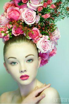 floral headpiece spring racing - Google Search