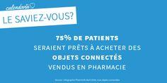 [Le saviez-vous ?] E-santé : 75% de patients seraient prêts à acheter des objets de santé connectée vendus en pharmacie.