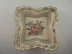 Vintage lattice dish with floral design, von Schierholz by DandDcollectibles on Etsy