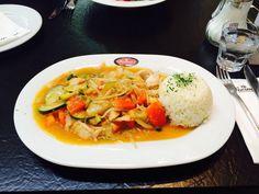 Thaicurry mit Putenstreifen im Woerners (Herzog-Wilhelm-Straße) in München. Lust Restaurants zu testen und Bewirtungskosten zurück erstatten lassen? https://www.testando.de/so-funktionierts
