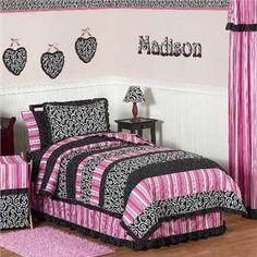 so cute for lil girl's room ....black and pink