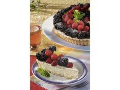 Malinovo-ostružinový koláč s mascarpone