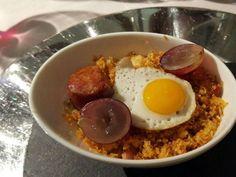 Migas castellanas (Panceta, chorizo, migas y huevo). Reserva online en EligeTuPlato.es