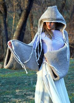 READY TO SHIP The Original EarthenPurl Hoodie Shrug by EarthenPurl, $149.00