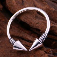 Men's Sterling Silver Cones Wrap Ring - Jewelry1000.com