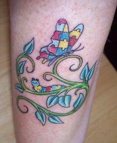 Butterfly and caterpillar autism tat