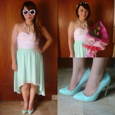 my birthday ootd Mint Shoes, Mullets, Floral Crown, Ootd, My Style, Birthday, Skirts, Shopping, Dresses