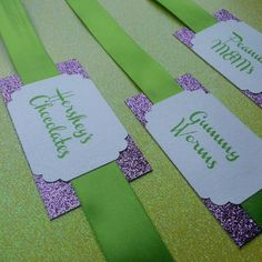 Sparkle and Shimmer Candy Buffet Tags by The Inspired Note
