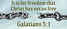Galatians Stand fast therefore in the liberty wherewith Christ hath made us free, and be not entangled again with the yoke of bondage. Sermon Illustrations, Freedom In Christ, Celebrate Recovery, Faith Scripture, Word 2, Living Water, Jesus Loves, Spiritual Growth, Holy Spirit