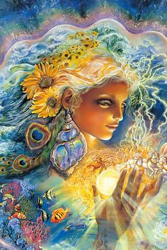 """Creation of Summer (zoom 3)"" par Josephine Wall ~☆~"