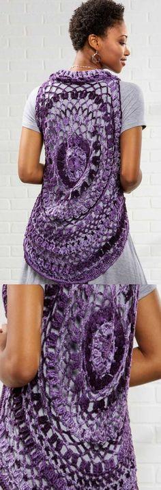 766de8c6e Free circular vest crochet pattern Crochet Circle Vest