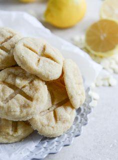white chocolate lemon butter cookies I howsweeteats.com-