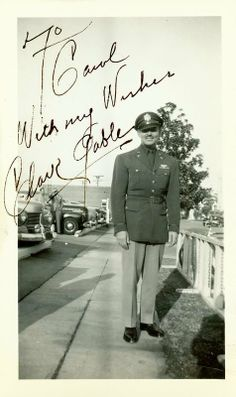 Clark Gable photograph with inscription | To Carol with my wishes