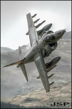 Pretty Awesome shot of a Harrier GR7A.