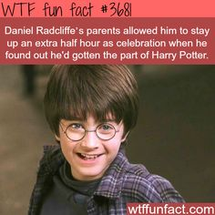 How young Daniel Radcliffe celebrated when he got the roll for Harry Potter - WTF fun facts