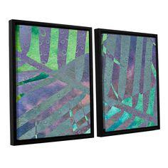 ArtWall 'Cora Niele's Leaf Shades Iii' 2-piece Floater Framed Set