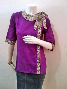 Model Blouse Batik Kerja Pita Samping