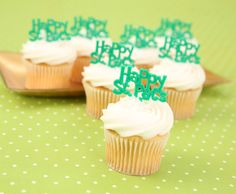 Happy St. Patrick's Day Cupcake Toppers!