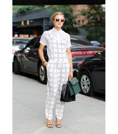 @Who What Wear - The Rule: Overalls Are For Tomboys Or Little Kids                 Not when you style them with your flirtiest pair of shoes and chicest sunglasses. Go ahead and prove this tomboy tall tale wrong!    Image via Lee Oliveira